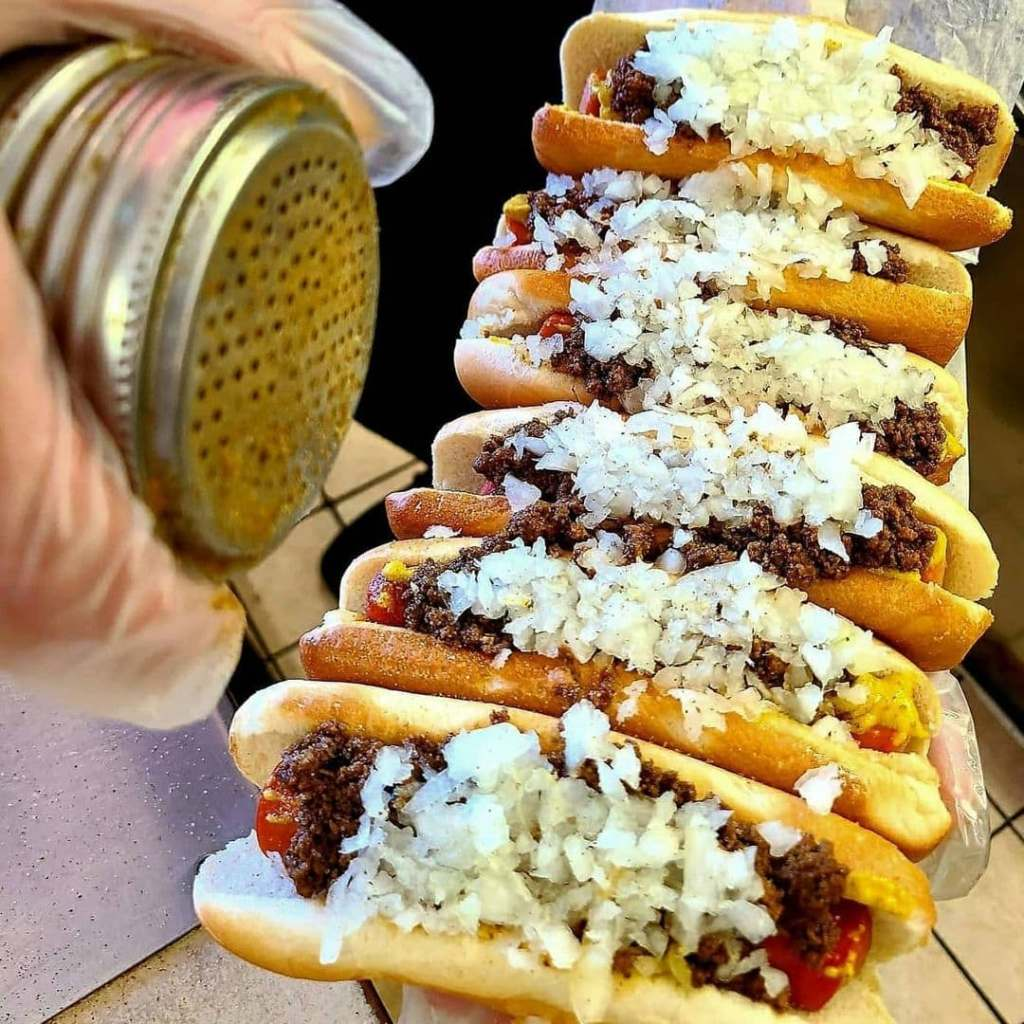 Hot weiners from Olneyville NY System in Providence, RI.