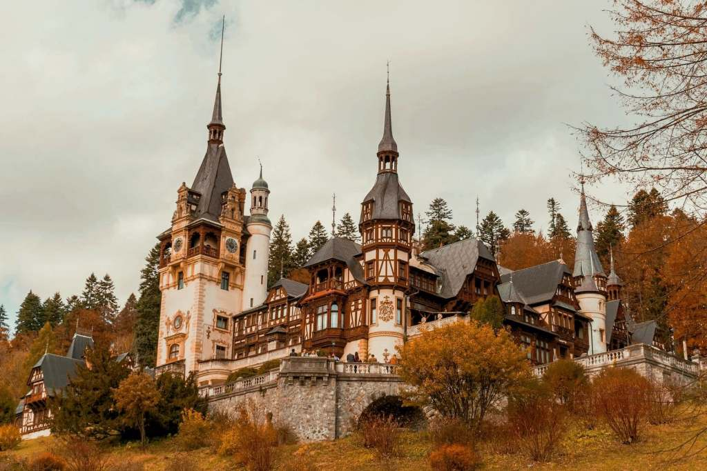 Peles Castle in Transilvania, Romania - a stunning example of the living in Romania.