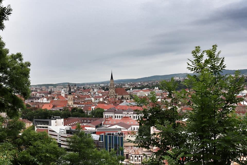 Views of Cluj-Napoca, Romania as seen from Cetatuia Park.