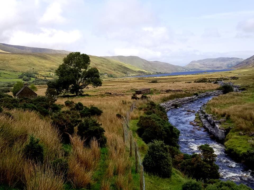 River running through Connemara National Park in Ireland