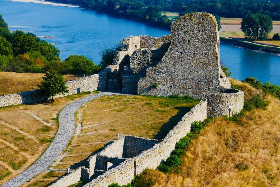 Devin Castle ruins in Slovakia