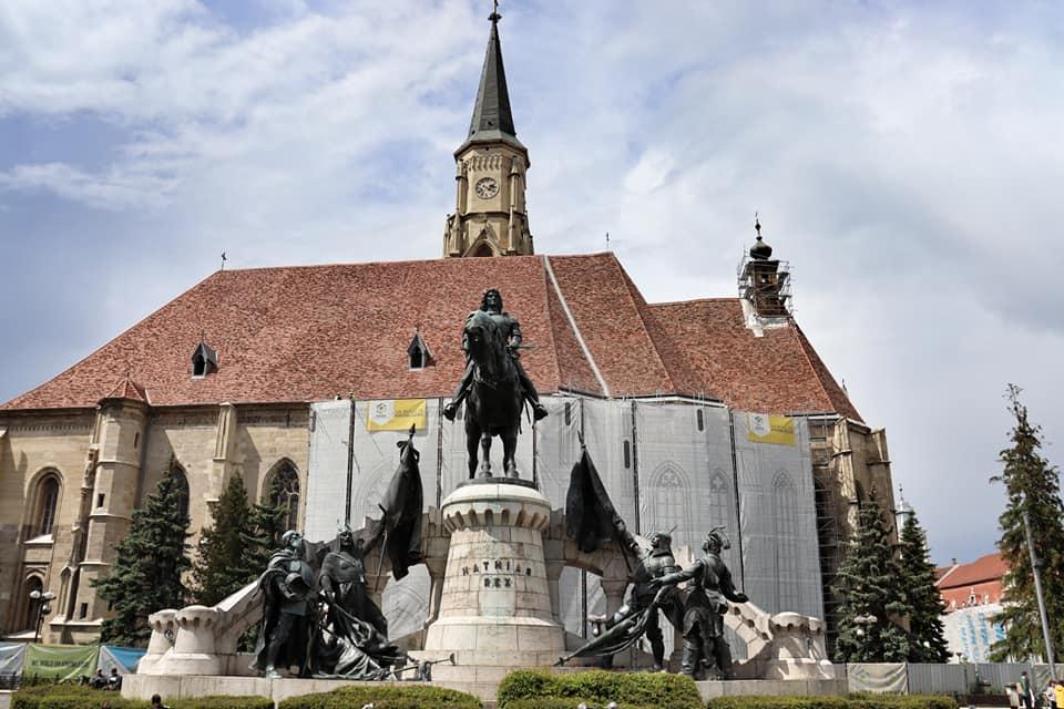 St. Michael's Roman Catholic Church, the second largest church in Transilvania.  In Cluj-Napoca, Romania