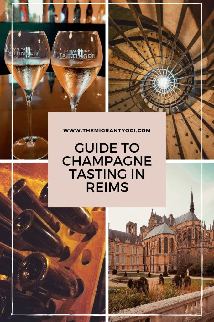Pinterest graphic: Guide to Champagne Tasting in Reims