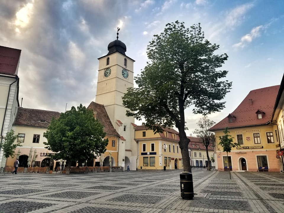 Council Tower in Sibiu, Romania