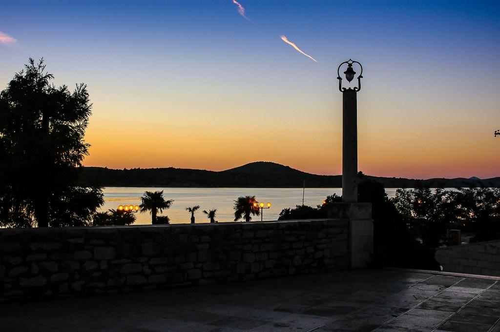Evening sky in Sibenik, Croatia - underrated European beach vacations