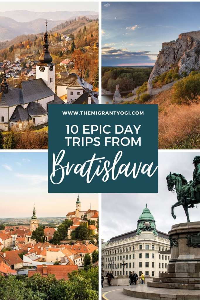 Pinterest graphic - 10 epic day trips from Bratislava