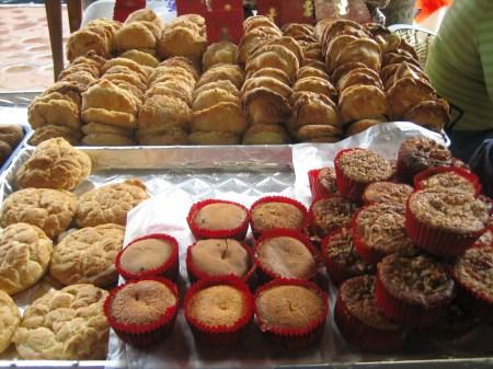 Sweetbread for sale in Patzcuaro's Plaza Grande