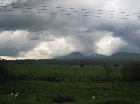 A typical roadside in the Lake Patzcuaro region, Michoacan