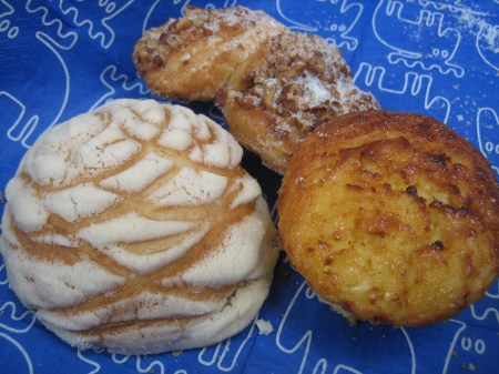 An assortment of pastries from Saks, a restaurant in Col. Polanco, Mexico City. The corn muffins rule.