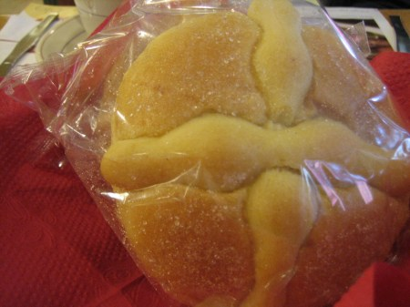 Pan de Muerto from VIPs restaurant in Monterrey, Mexico