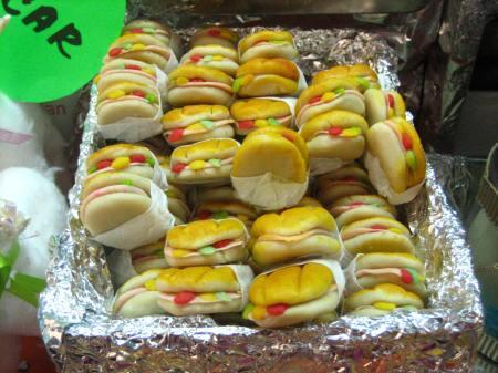 Quarter-sized tortas, made from dulce de pepita, at the Feria de Alfeñique in Toluca, Mexico