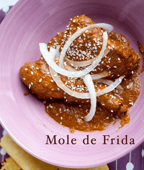 Frida Kahlo's mole, by Tasty Trix.