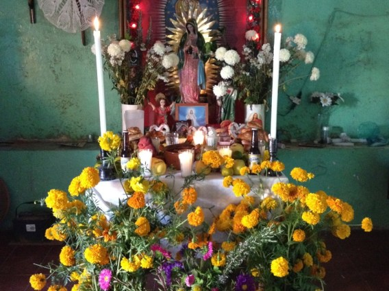 An altar in Huaquechula, dedicated to a loved one who passed several years ago.