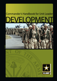 US Army Commanders Handbook For Leader Development