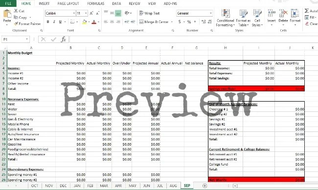 excel monthly budget template - it will help you learn how to create a monthly budget - monthly budget excel spreadsheet template