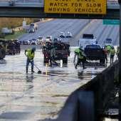 610 East Loop se reabre cuando las cuadrillas trabajan para reparar la tubería de agua de 8 pies que inundó la autopista