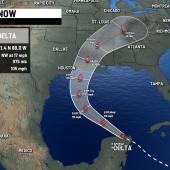Advertencia de huracán extendida a High Island, fortalecimiento del Delta, Texas en Alerta…