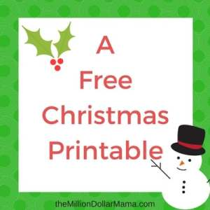 The Grinch Who Stole Christmas – Two Free Printables