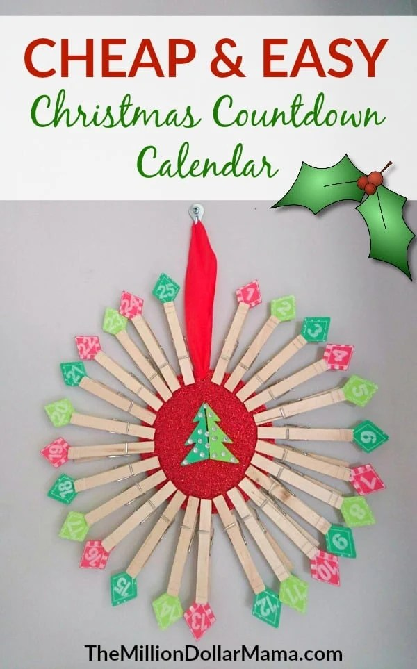 cheap and easy diy christmas countdown calendar the perfect diy advent calendar to make this
