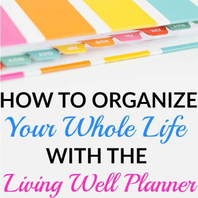 How to Organize Your Whole Life With The Living Well Planner