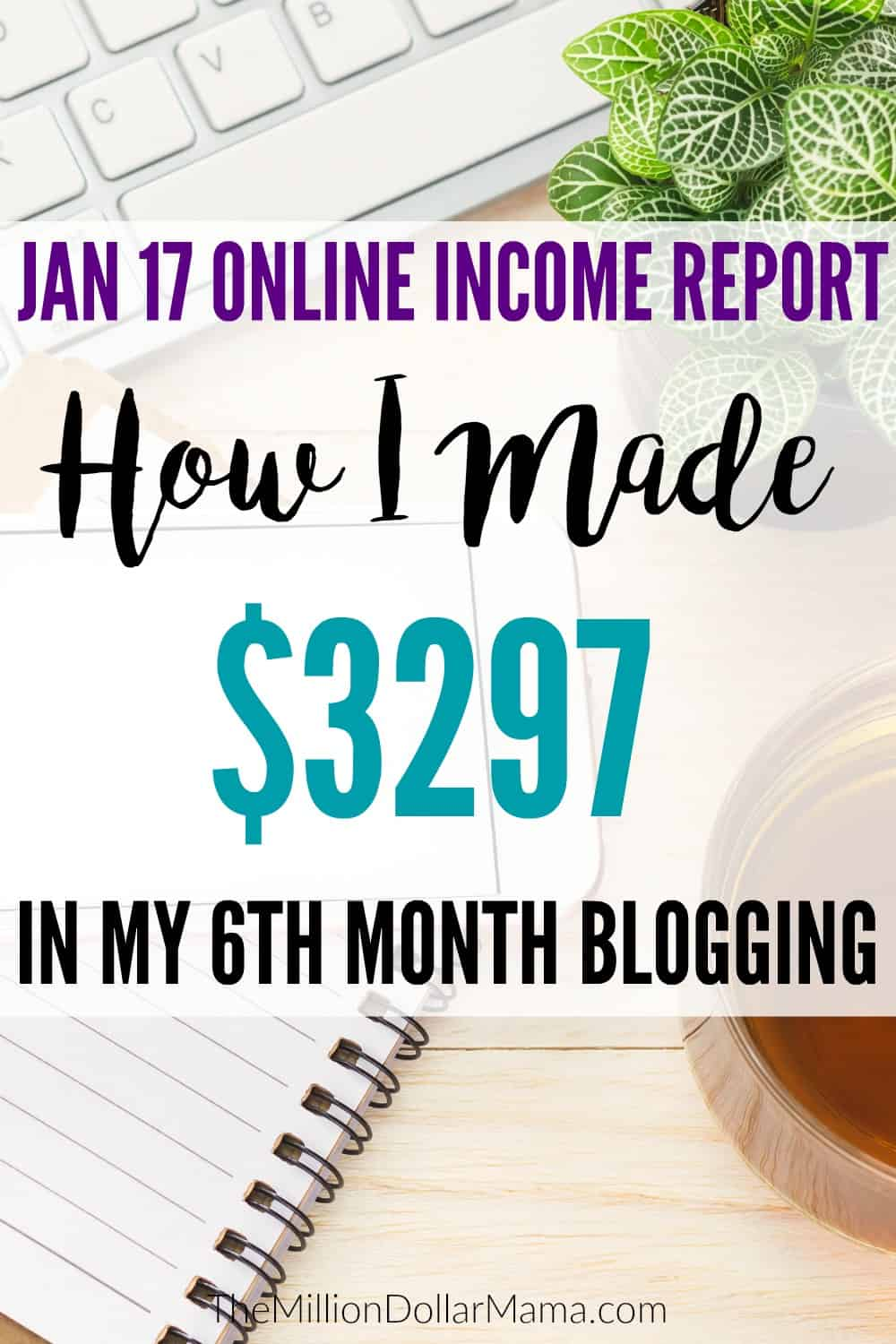 Interested to see how much money I made online in January 2017? In January 2017 online income report I share exactly how much I made from my blog.