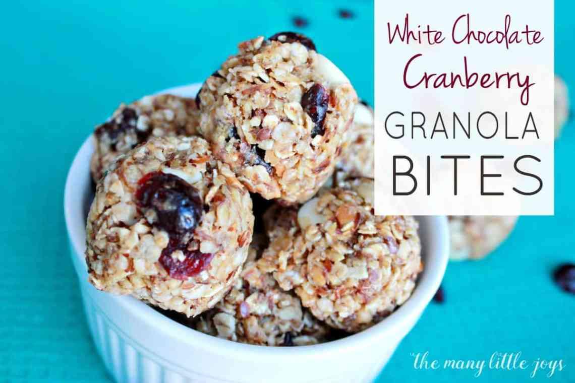 White Chocolate Cranberry Granola Bites