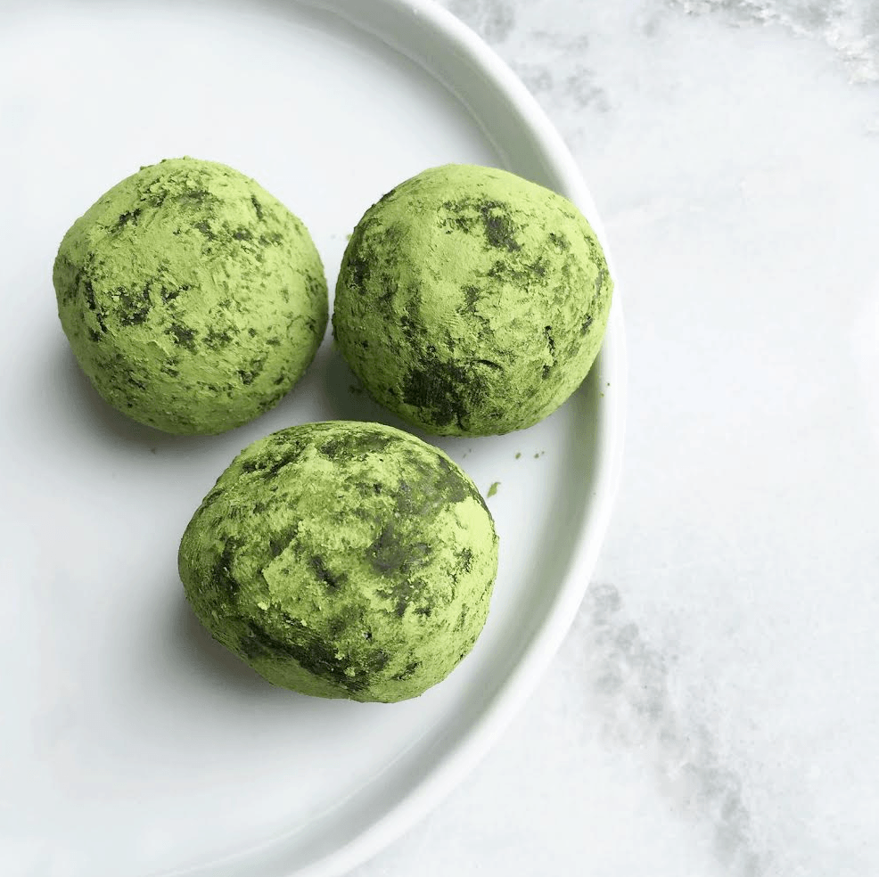 Raw Matcha Coconut and Date Balls