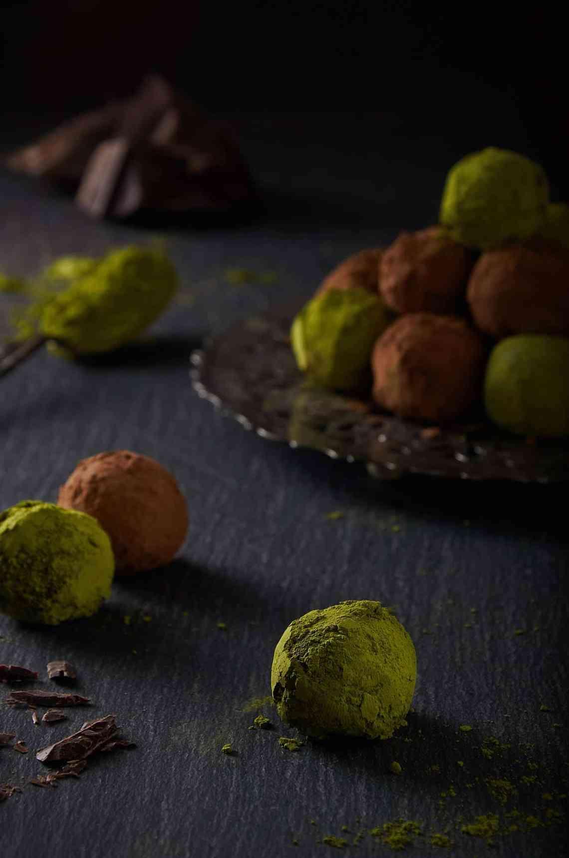 Matcha Cacao Truffles