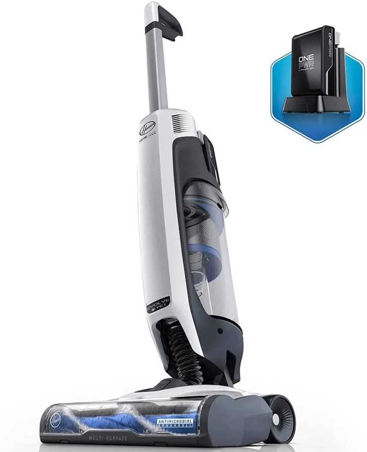 Hoover ONEPWR Evolve Pet Cordless Small Upright Vacuum Cleaner Lightweight Stick Vac BH53420PC White