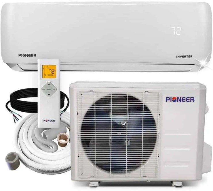 Pioneer Air Conditioner WYS012A 19 Wall Mount Ductless Inverter Mini Split Heat Pump 12000 BTU 110120V