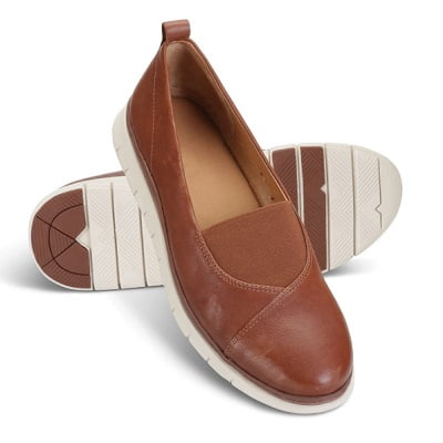 The Lady's Plantar Fasciitis Leather Flats 1