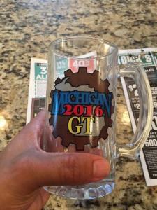 The 2016 Michigan GT prize mugs!