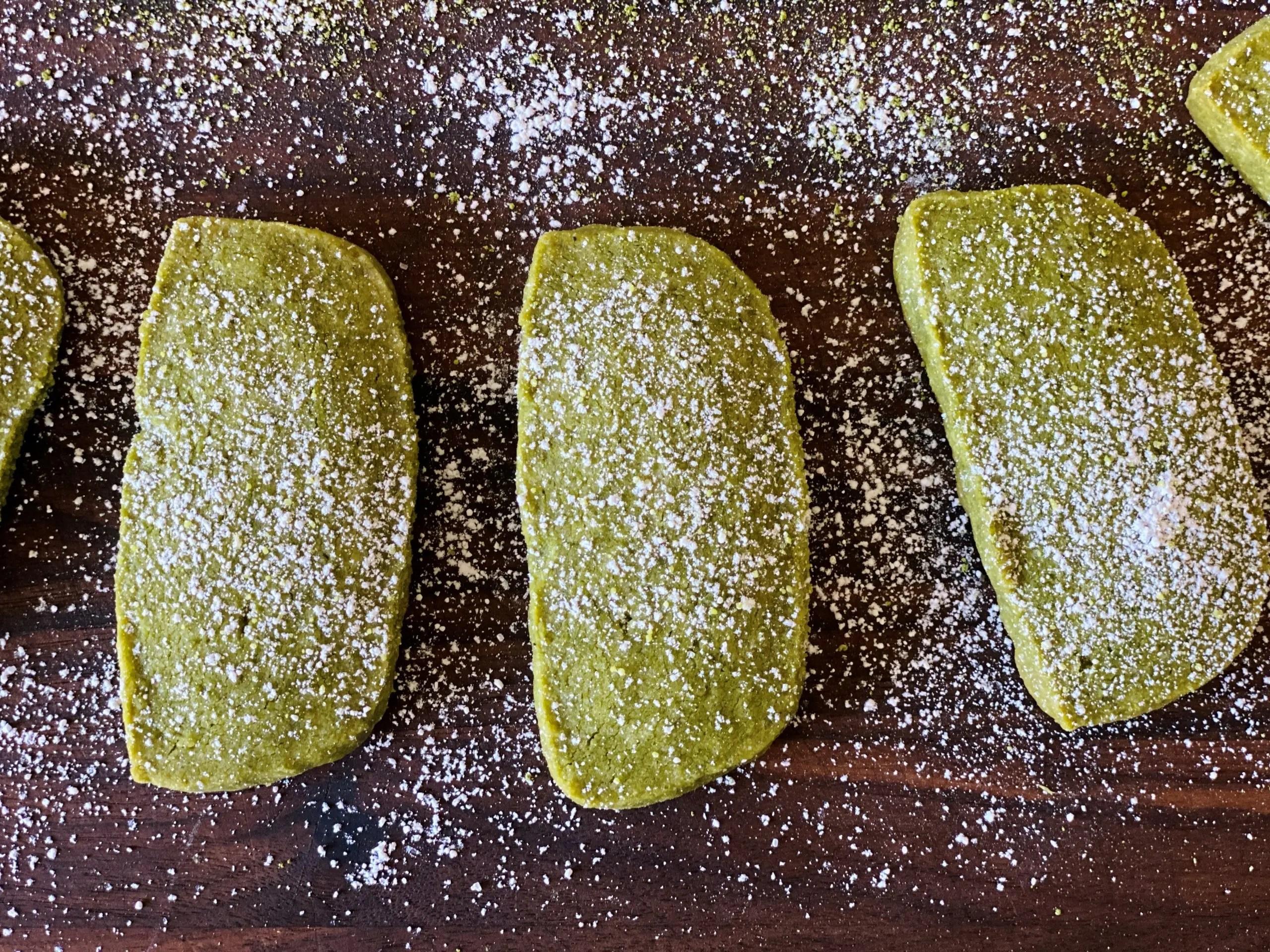 matcha green tea shortbread