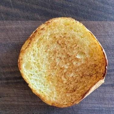 Bacon and onion cheeseburger bottom bun