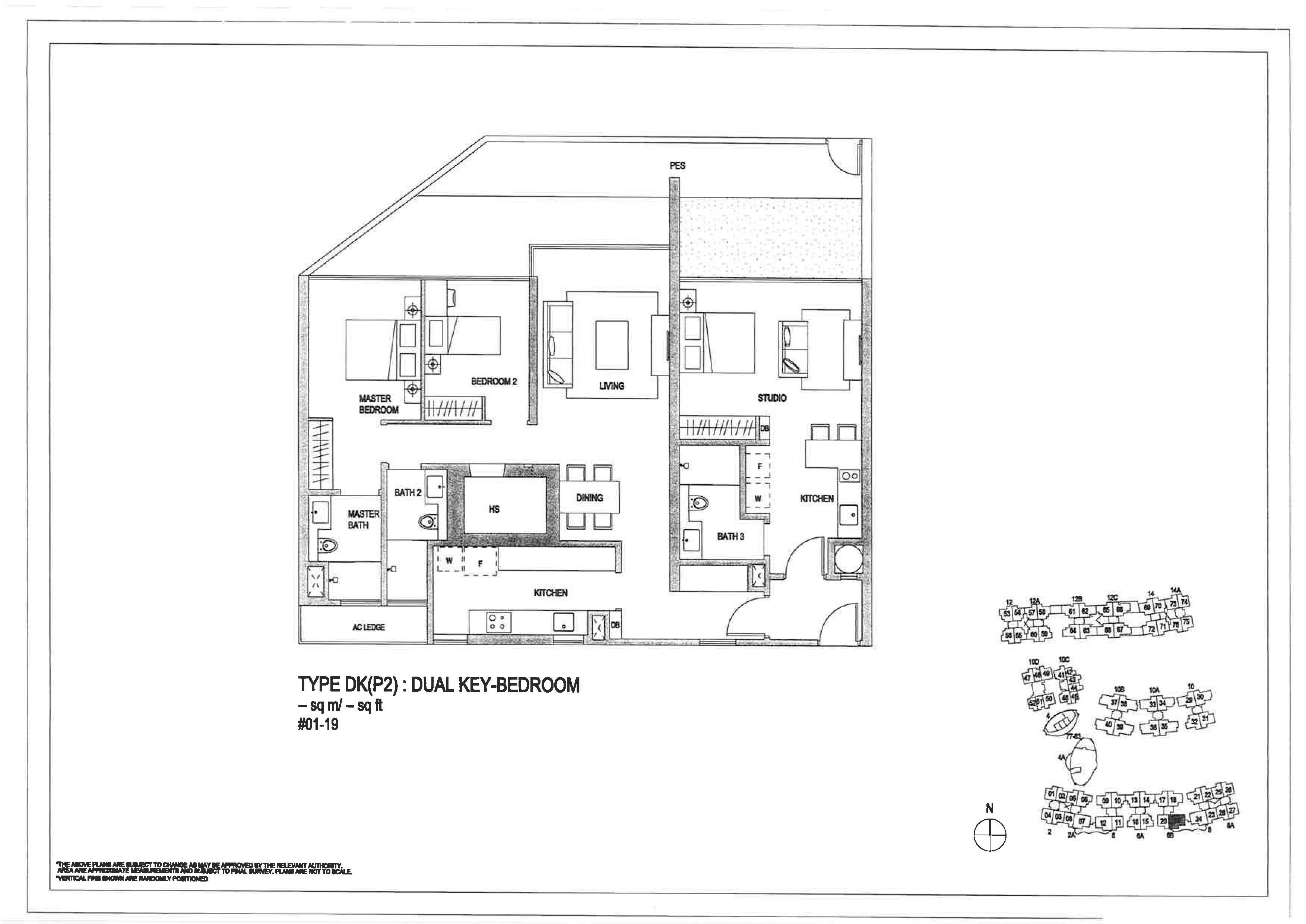 The Minton 3 Bedroom Dual Key Floor Plans Type DK(P2)