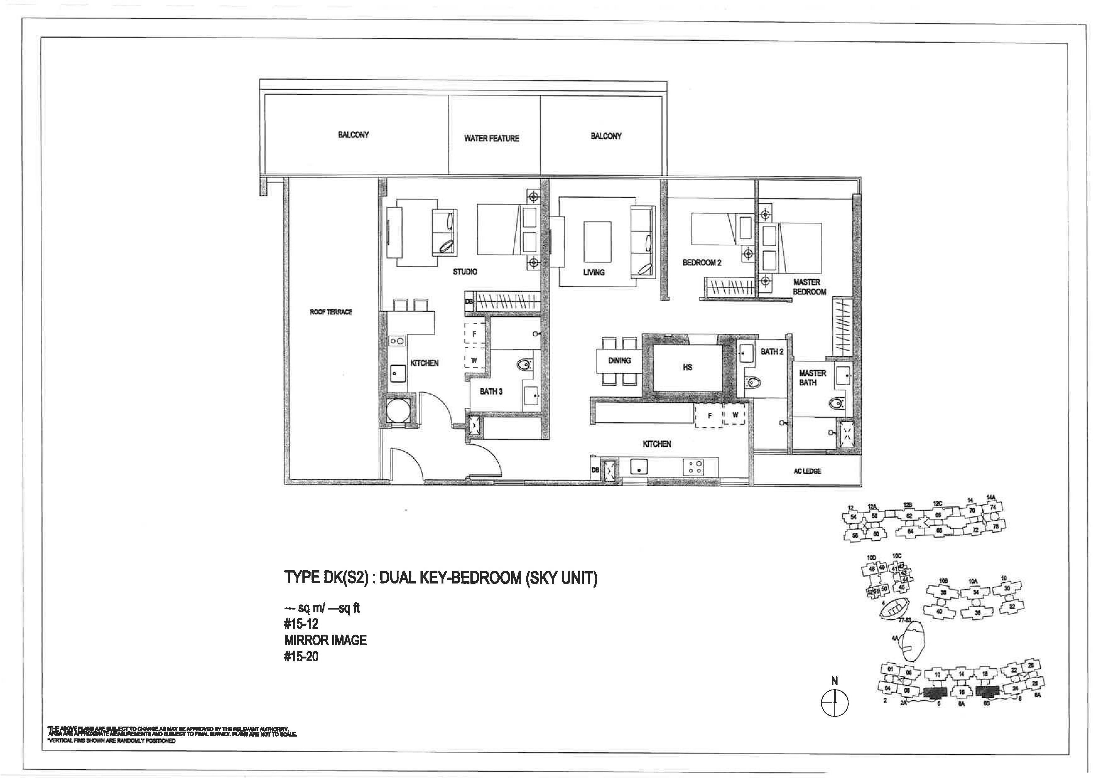 The Minton 3 Bedroom Dual Key Floor Plans Type DK(S2)