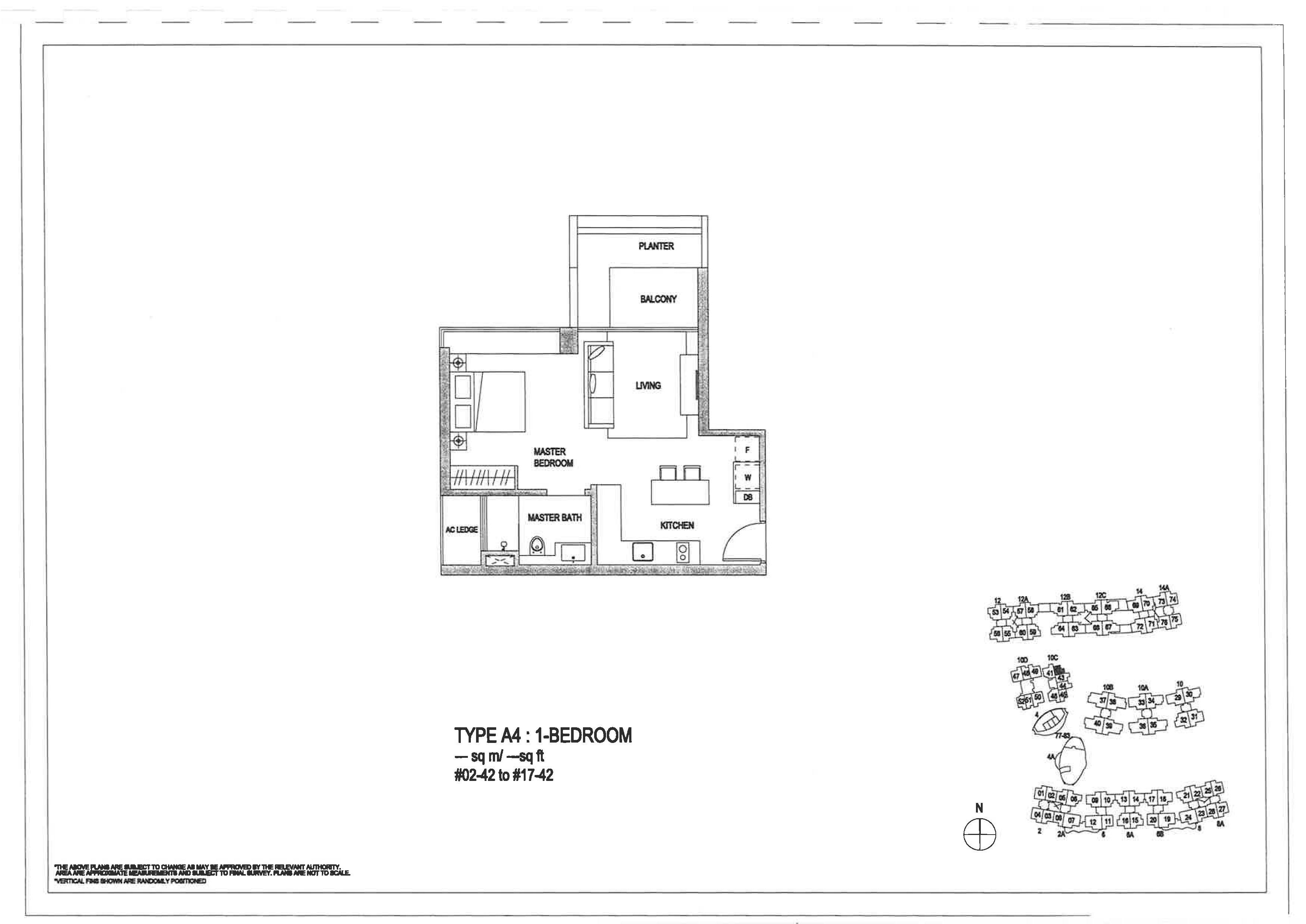 The Minton 1 Bedroom Floor Plans Type A4