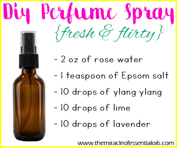 Diy Essential Oil Perfume Spray The Miracle Of Essential Oils