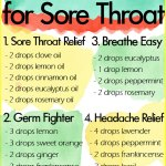 5 Essential Oil Diffuser Blends for Sore Throat