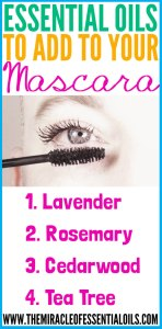 4 Essential Oils to Add to Mascara