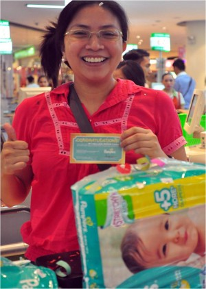 pampers first millionaire