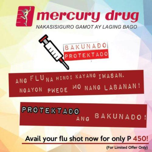 mercury drug flu vaccination schedule 2016