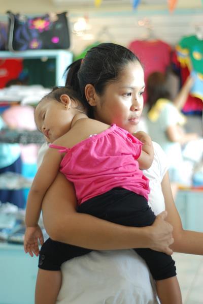 baby hug