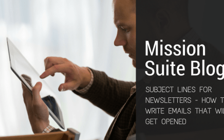 subject lines for newsletters, mission suite