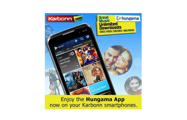 Hungama offers 30 days unlimited free content for Karbonn handsets