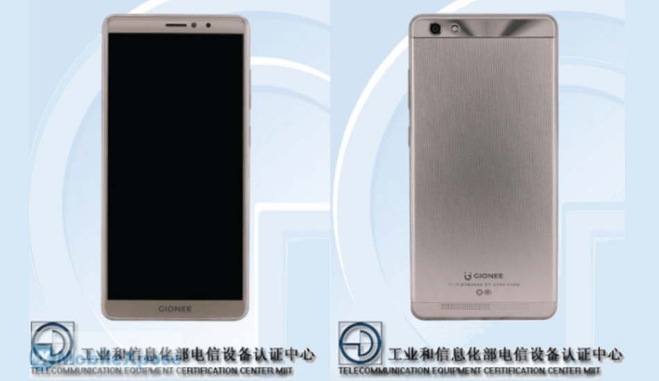 Gionee GN5006 spotted on TENAA with bezel-less display, 4000mAh battery