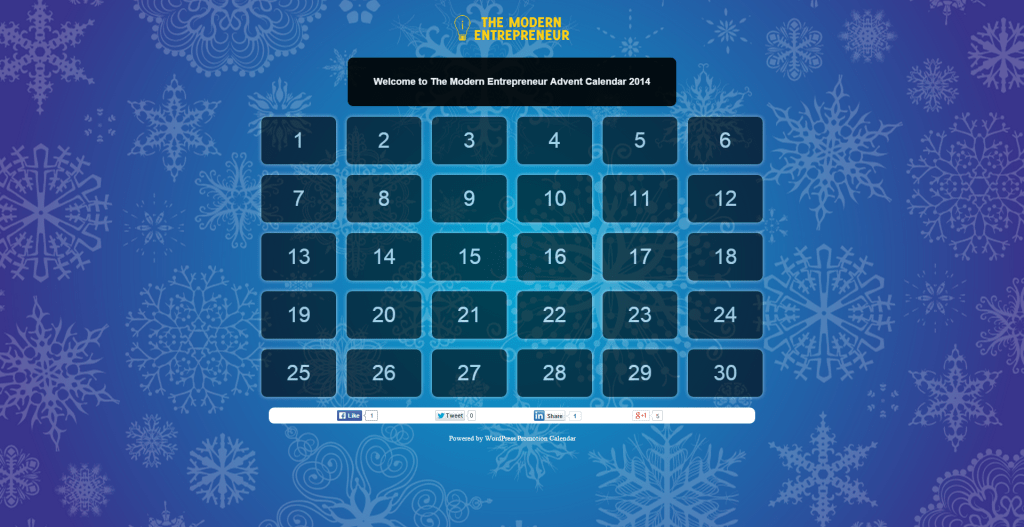 The Modern Entrepreneur Advent Calendar