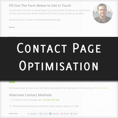 Contact Page Optimisation Tips