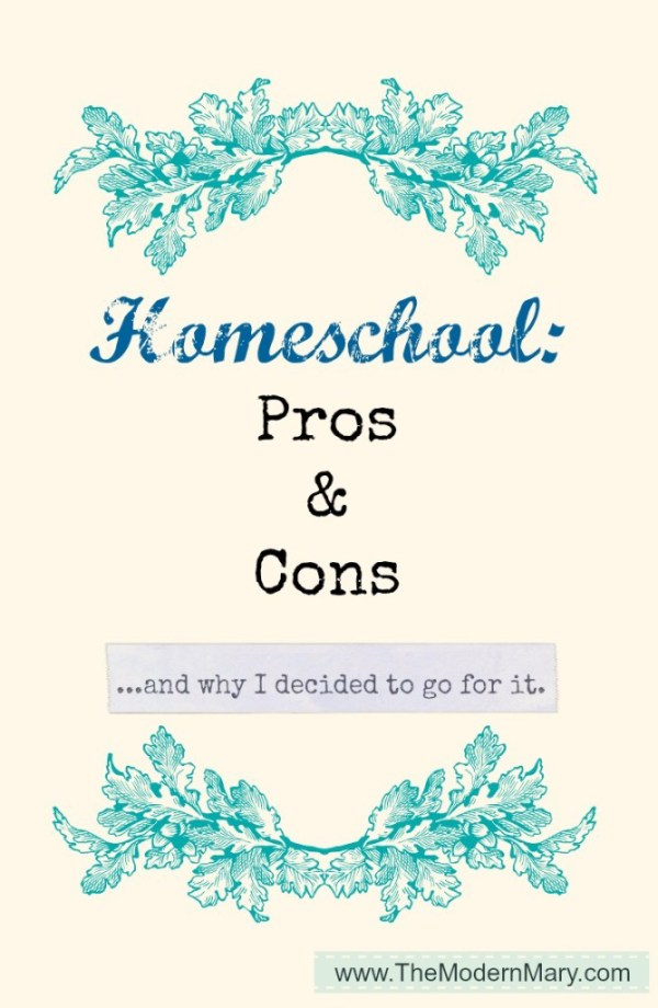 Homeschool Pros & Cons