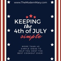 More than 40 patriotic ideas to help you keep it simple. If you need help finding ideas for decorations, appetizers, drinks, outdoor games for kids & adults, main dishes, desserts, or party favors--look no further!